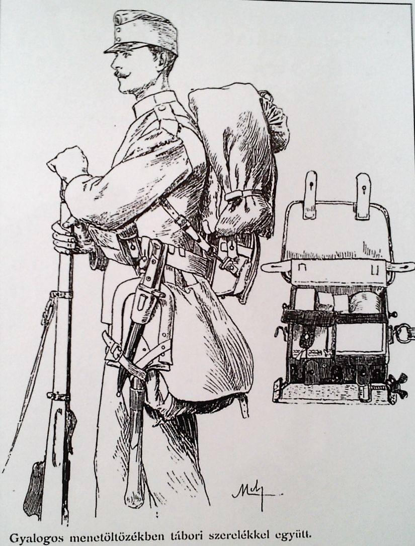 Pešiak v uniforme s bojovou výstrojou